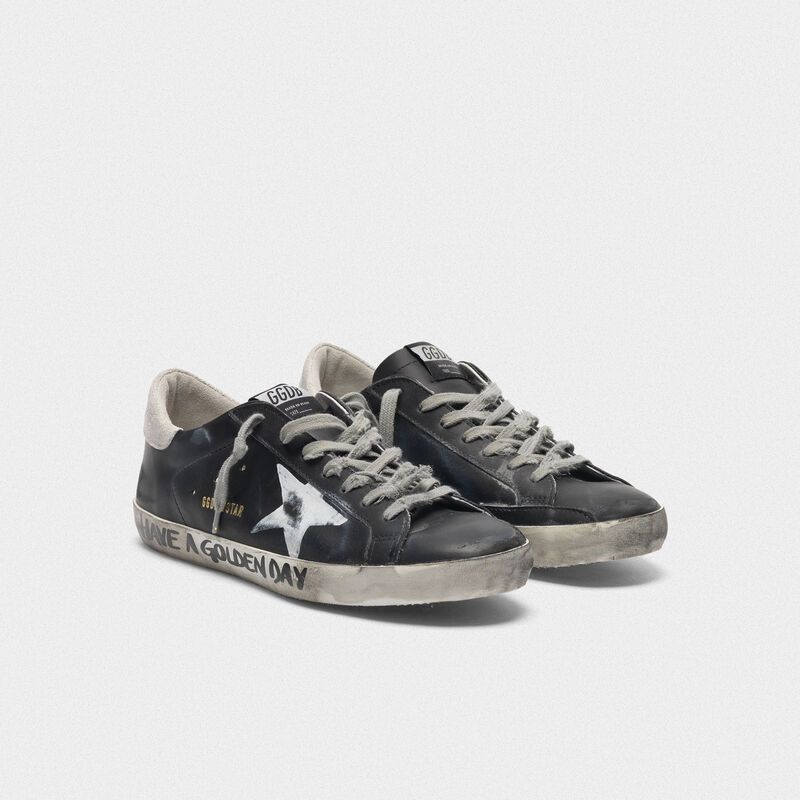 Black Super-Star sneakers with