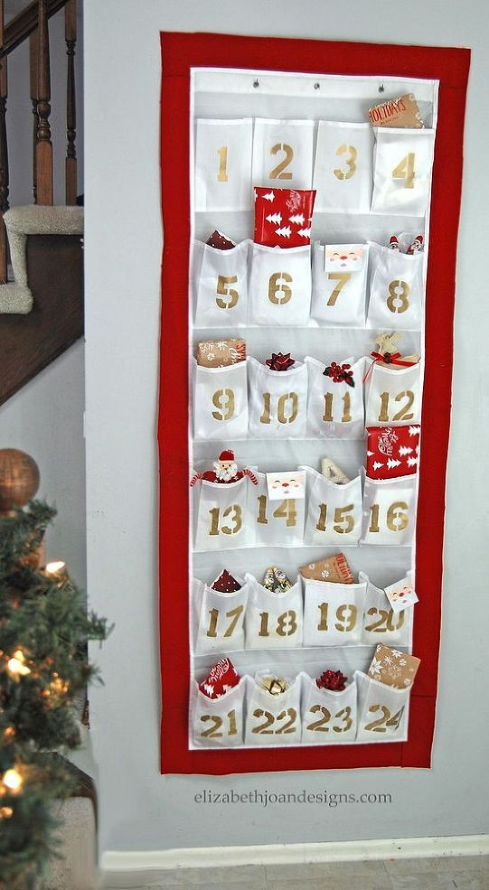 Diy Advent Calendar From A Shoe Organizer Christmas Advent