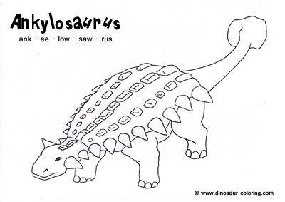Ankylosaurus Dinosaur coloring pages, Dinosaur coloring