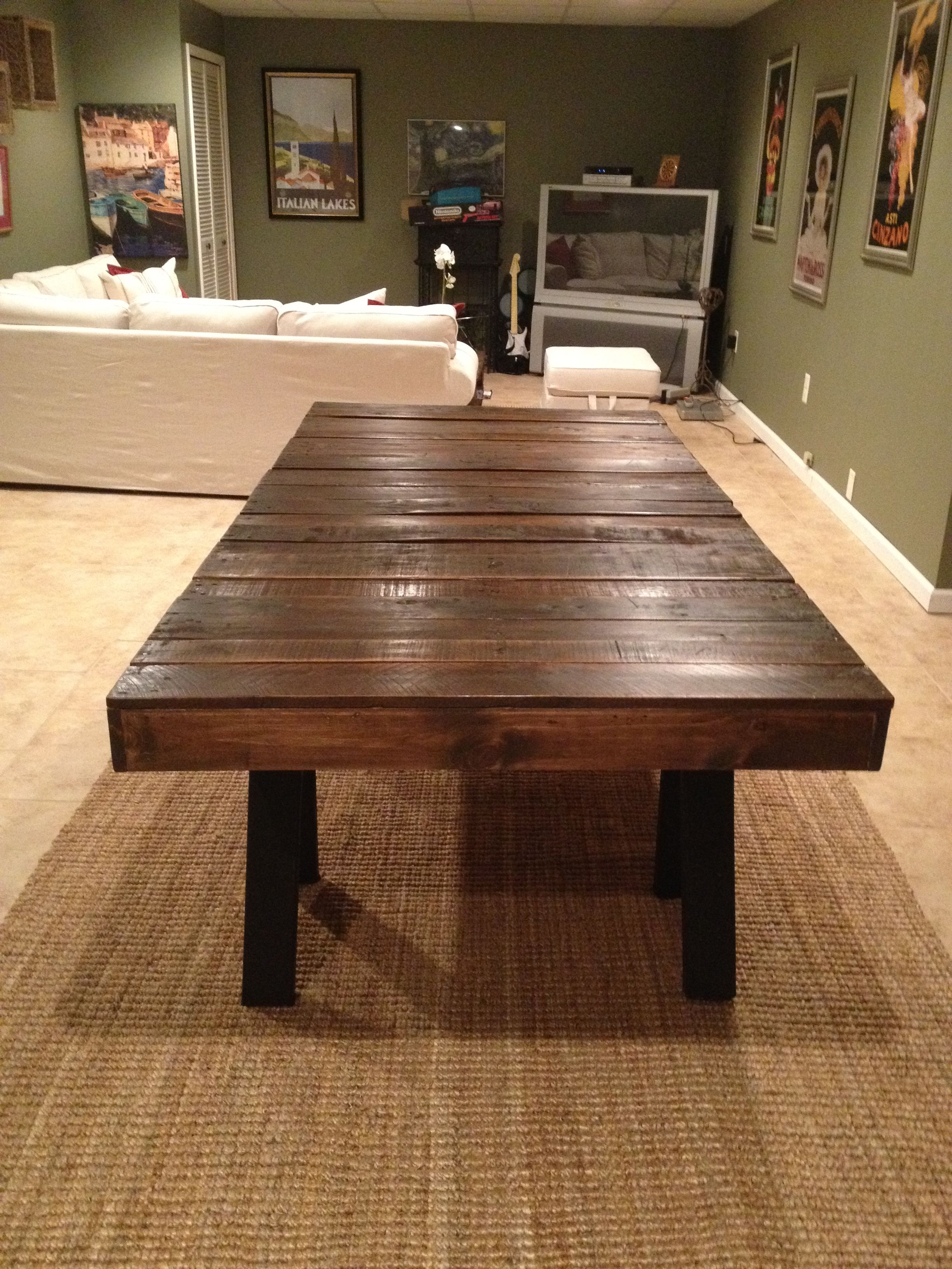 dining room table made from pallets | Pallet dining table | Furniture I want to make | Pinterest ...