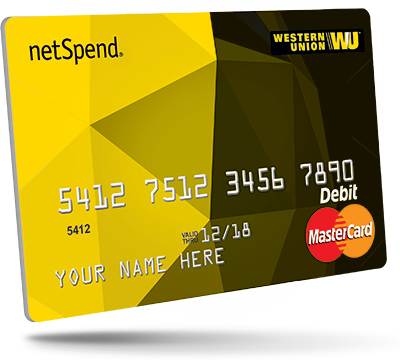 Western Union NetSpend Prepaid MasterCard WU NetSpend Prepaid