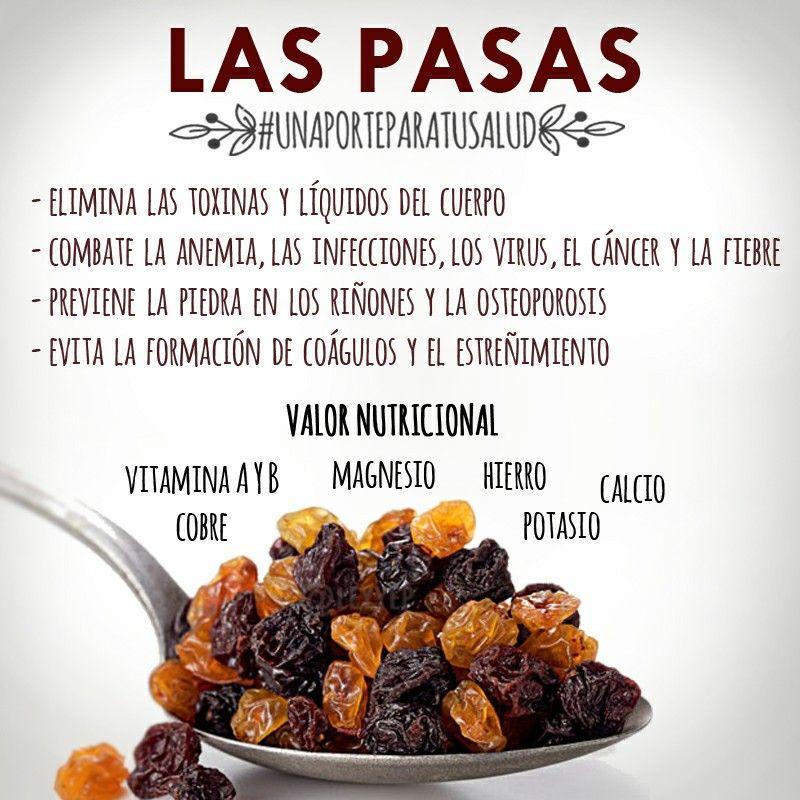 beneficios de uvas pasas para la salud