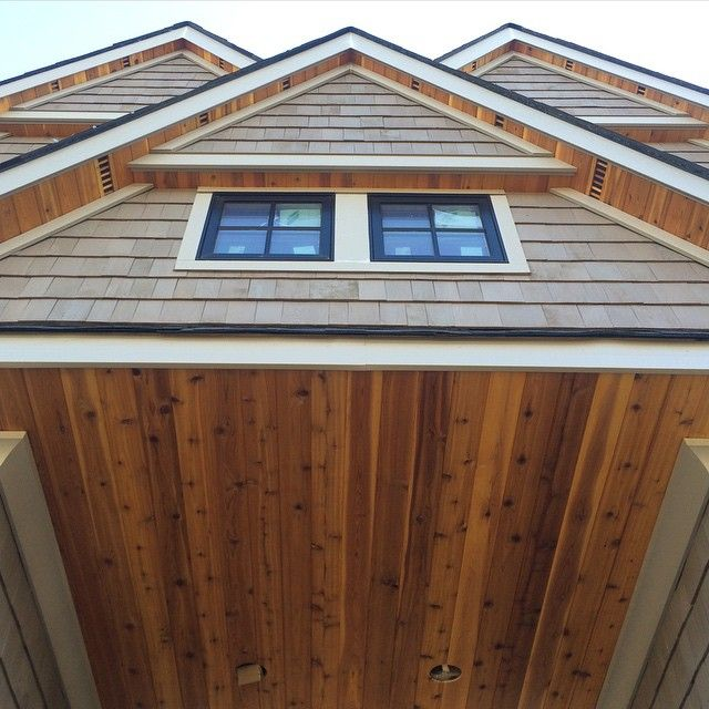 Untitled I Looooove Cedar Soffits They Add So Much Warmth Cottage Exterior House Exterior Outdoor Wood