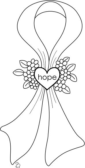 coloring pages for cancer awareness | Pin by Kristin Baker on Digital stamps | Breast cancer ...