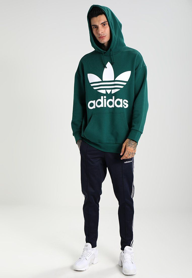 timeless design good service hot sale online TREF OVER HOOD - Sweat à capuche - green   Fashion   Adidas ...