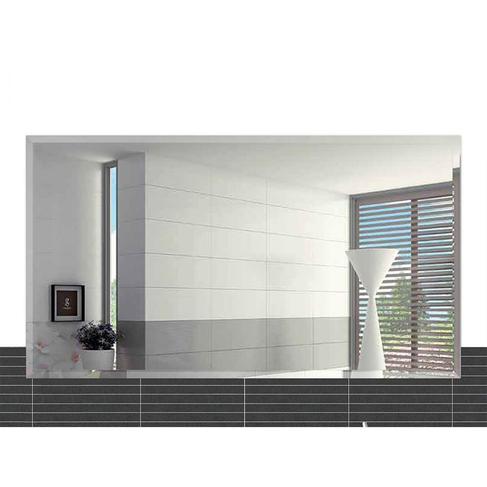Fab Glass And Mirror 20 In X 30 In Rectangle Beveled Polish Frameless Wall Mirror With Hooks Mrec20x30be6mm The Home Depot In 2020 Mirror Wall Mirror Design Wall Wall Mirrors With Hooks
