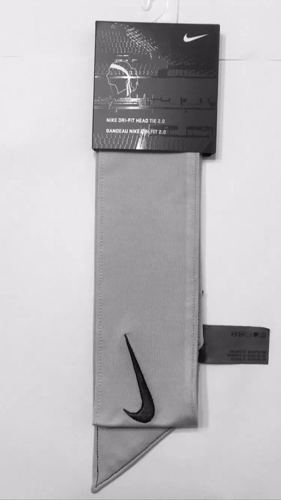 Custom Grey Nike Dri-Fit Head Tie Headband - Multi. Sport / Yoga