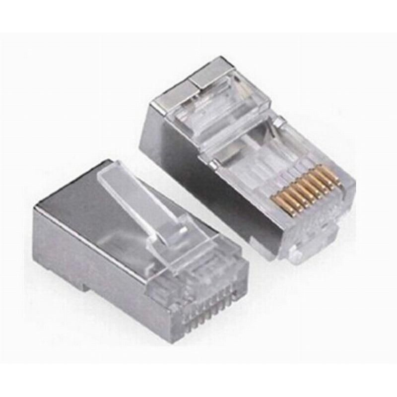 Visit To Buy 20 Pieces Metal Shielded Rj45 Plug Connector Ftp 8p8c Modular Network Plug Connector Advertisement Modular Plug Rj45 Plugs