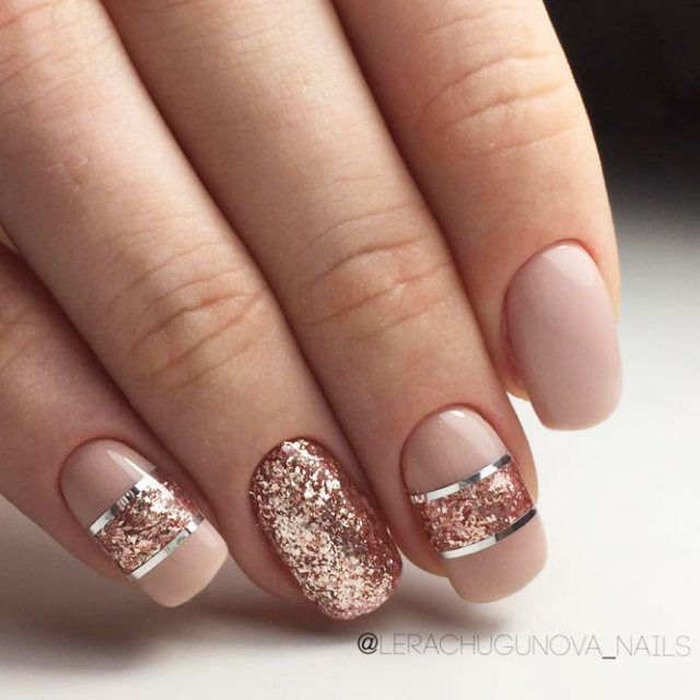 21 Outstanding Classy Nails Ideas For Your Ravishing Look Rose Gold Nails Design Gold Nail Designs Classy Nail Designs