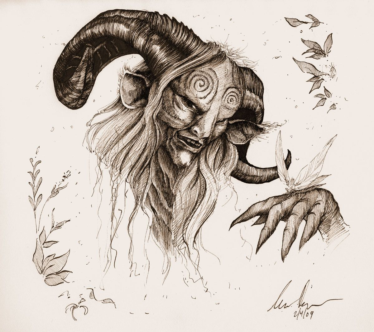 The faun from pans labyrinth