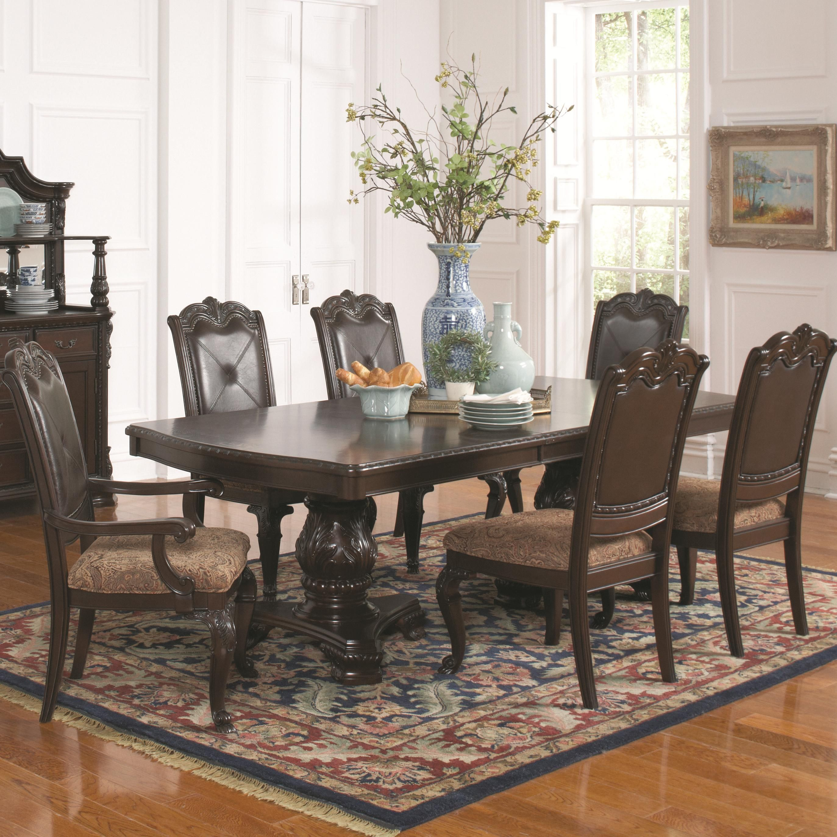 Valentina Seven Piece Formal Dining Set By Coaster At Del Sol