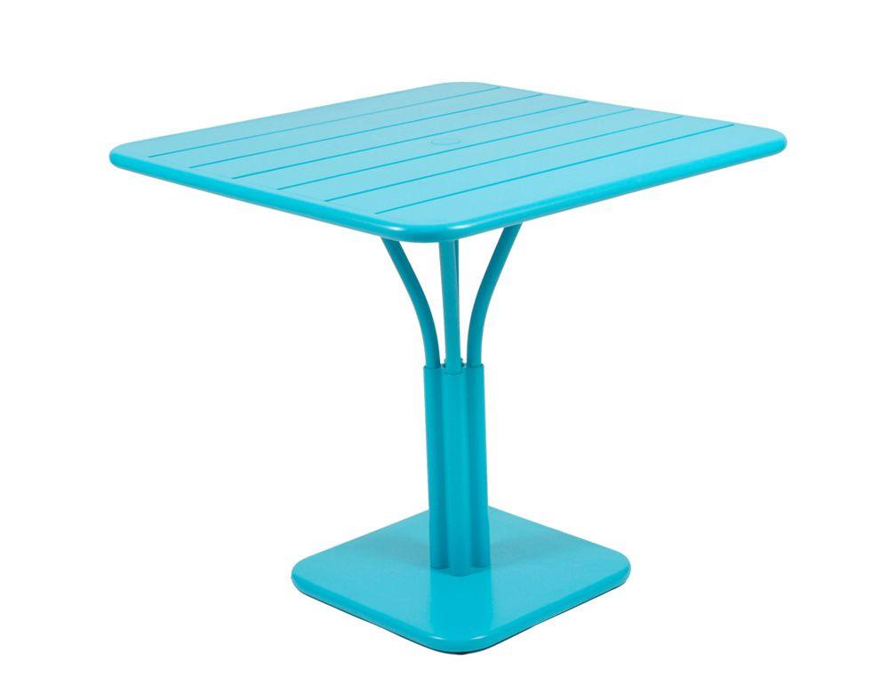 Table 80x80 cm Luxembourg, table de jardin metal | BLEU TURQUOISE ...