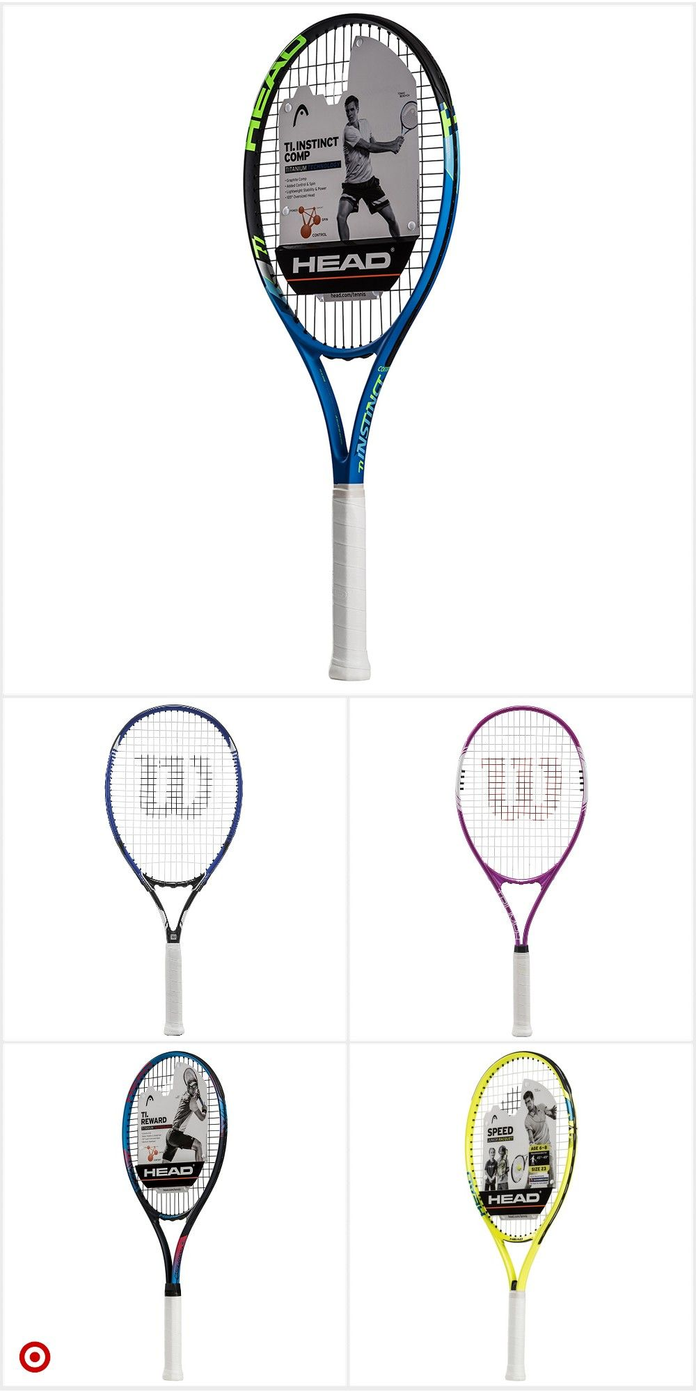 Shop Target For Tennis Racquet You Will Love At Great Low Prices Free Shipping On Orders Of 35 Or Free Same Day Pick Up In Tennis Tennis Racquet Racquets