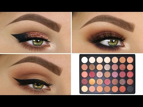 3 Looks 1 Palette Morphe 35f Makeup Tutorials In 2019 Makeup