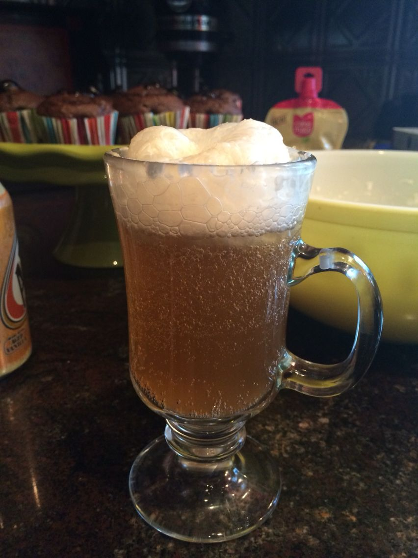 Harry Potter Homemade Butter Beer!   Cream Soda (I used cans of  A&W Cream Soda)  Mix together with a hand mixer: -2 1/2 7oz Jars Marshmallow Puff -1 Cup Heavy Whipping Cream -1 Tsp. Rum Extract  Pour Cream Soda in a glass and drizzle the cream mixture on top. It will automatically foam up, which is awesome! You could possible put 1 Tsp. Butter Extract in mixture to help with the flavor, I didn't have any! Makes enough for a large party, probably even leftovers!