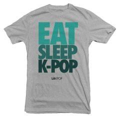 LAKPOP - Eat Sleep K-Pop Tee