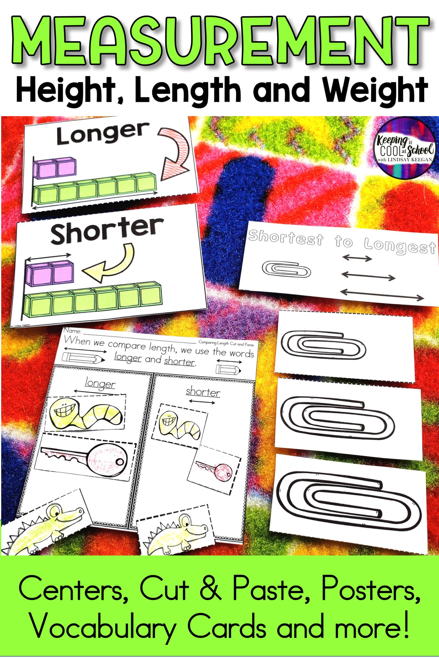Nonstandard Measurement Activities And Worksheets For Kindergarten Measurement Activities Fun Measurement Activities Kindergarten Lessons [ 2193 x 1462 Pixel ]