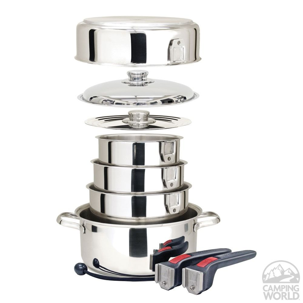 Magma Stainless Steel Nesting RV Cookware, 10 pc - Magma Products A10-360L - Cookware - Camping World