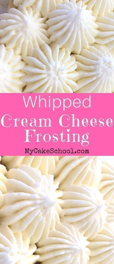 Whipped Cream Cheese Frosting #cupcakefrostingtips