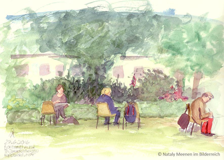 Mo, 27.06.2016 - mit den Montagsmalern wieder die Sonne im Garten genießend - ein herrlicher Wochenanfang!