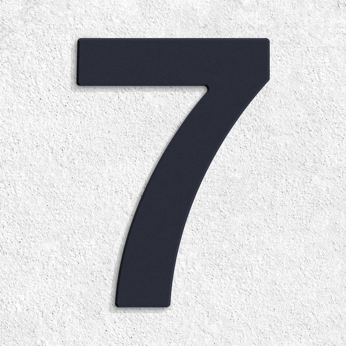 Hausnummer Anthrazit thorwa design edelstahl hausnummer hausnr ral 7016 anthrazitgrau