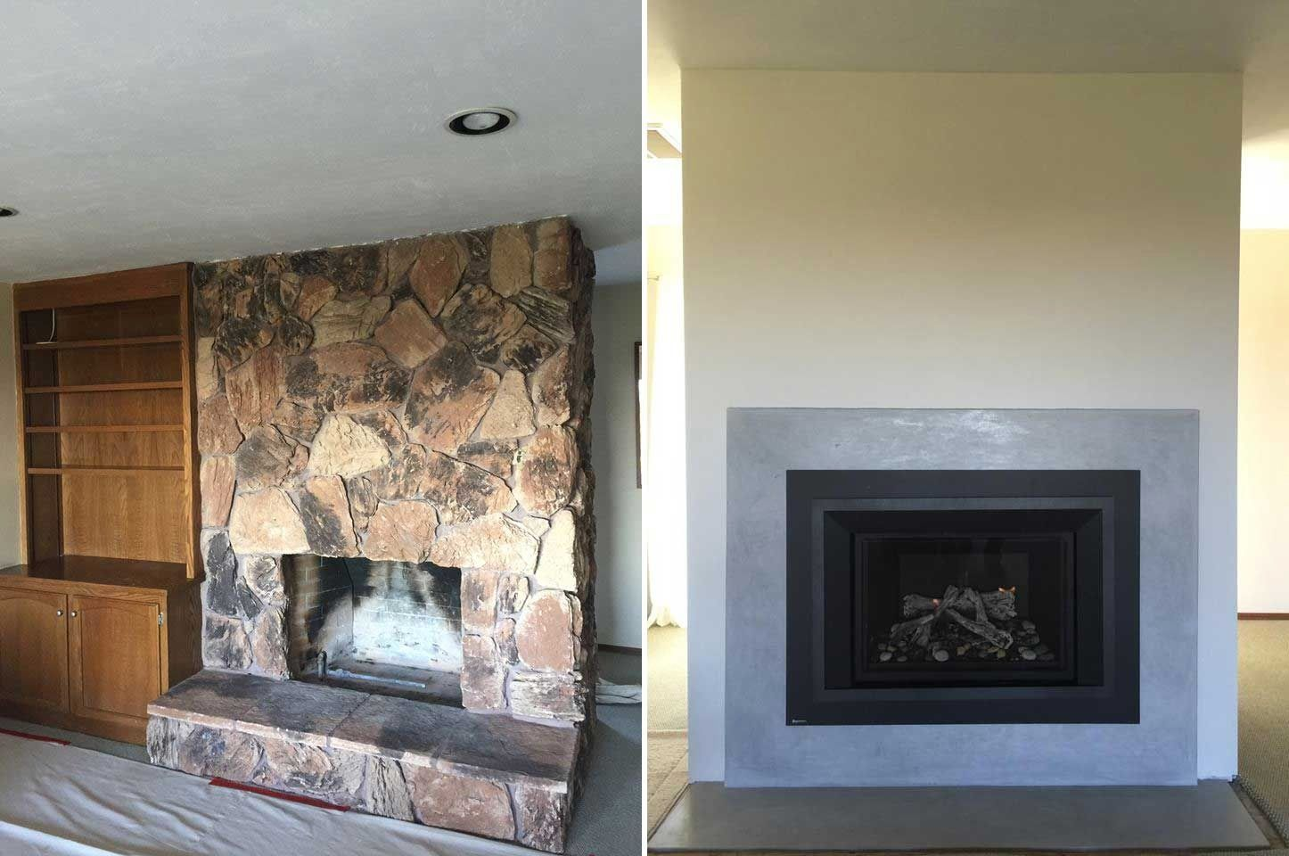 how to remove tile from wall around fireplace