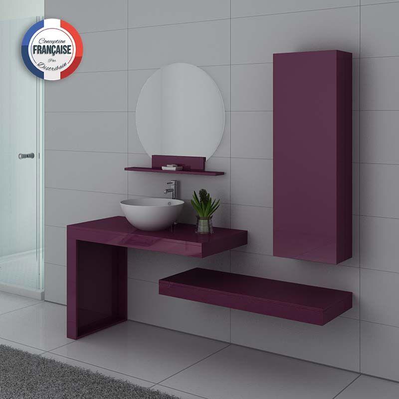 Meubles salle de bain MONZA Aubergine