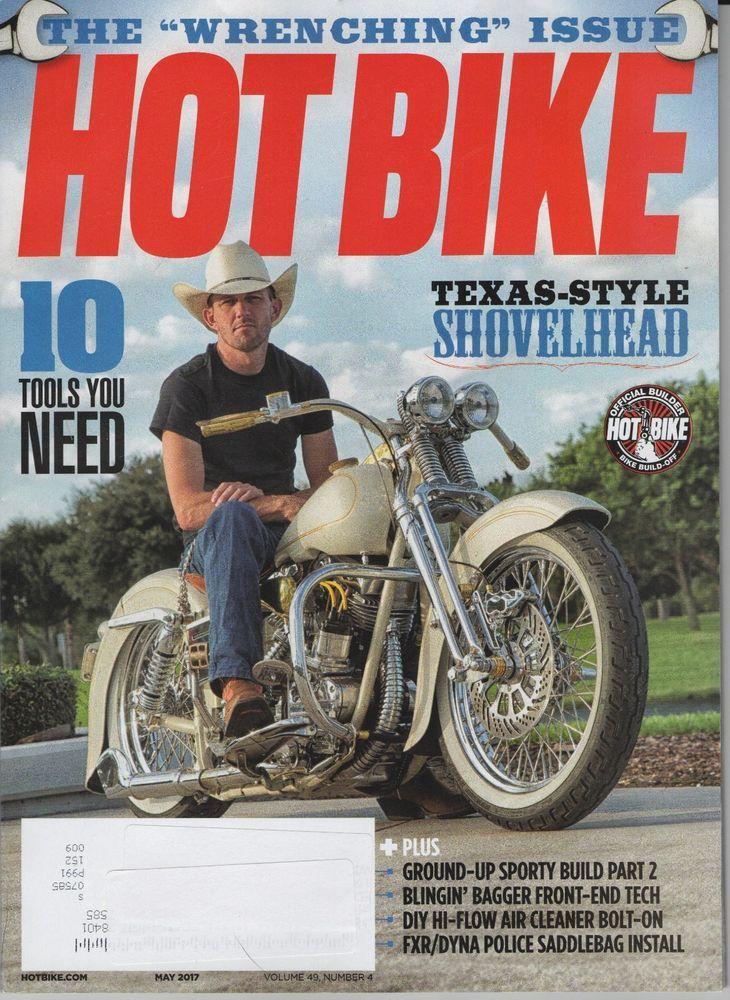 Hot Bike Magazine May 2017 Texas Style Shovelhead 10 Tools