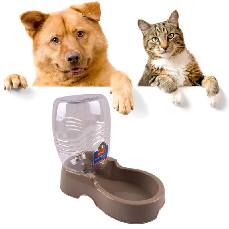 Automatic Pet Dog Cat Puppy Water Dispenser Food Dish Bowl 400ml Feeder Pet Drinking Fountain 24 X22 Drinking Fountain Automatic Cat Feeder Cats And Cucumbers