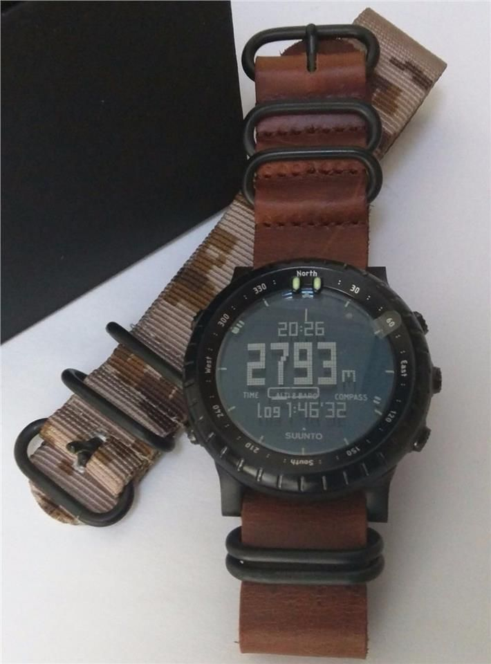 fe3596a2c05 Suunto Core All Black Military With Modded Lugs And Bands