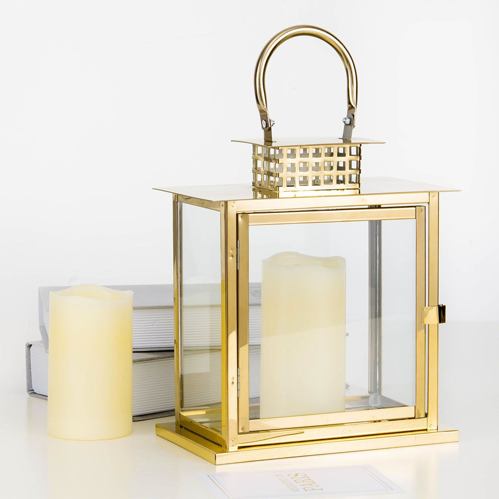 10 Gold Cage Top Stainless Steel Metal Lantern Centerpieces Outdoor Candle Lanterns In 2020 Outdoor Candle Lanterns Metal Lanterns Candle Lanterns