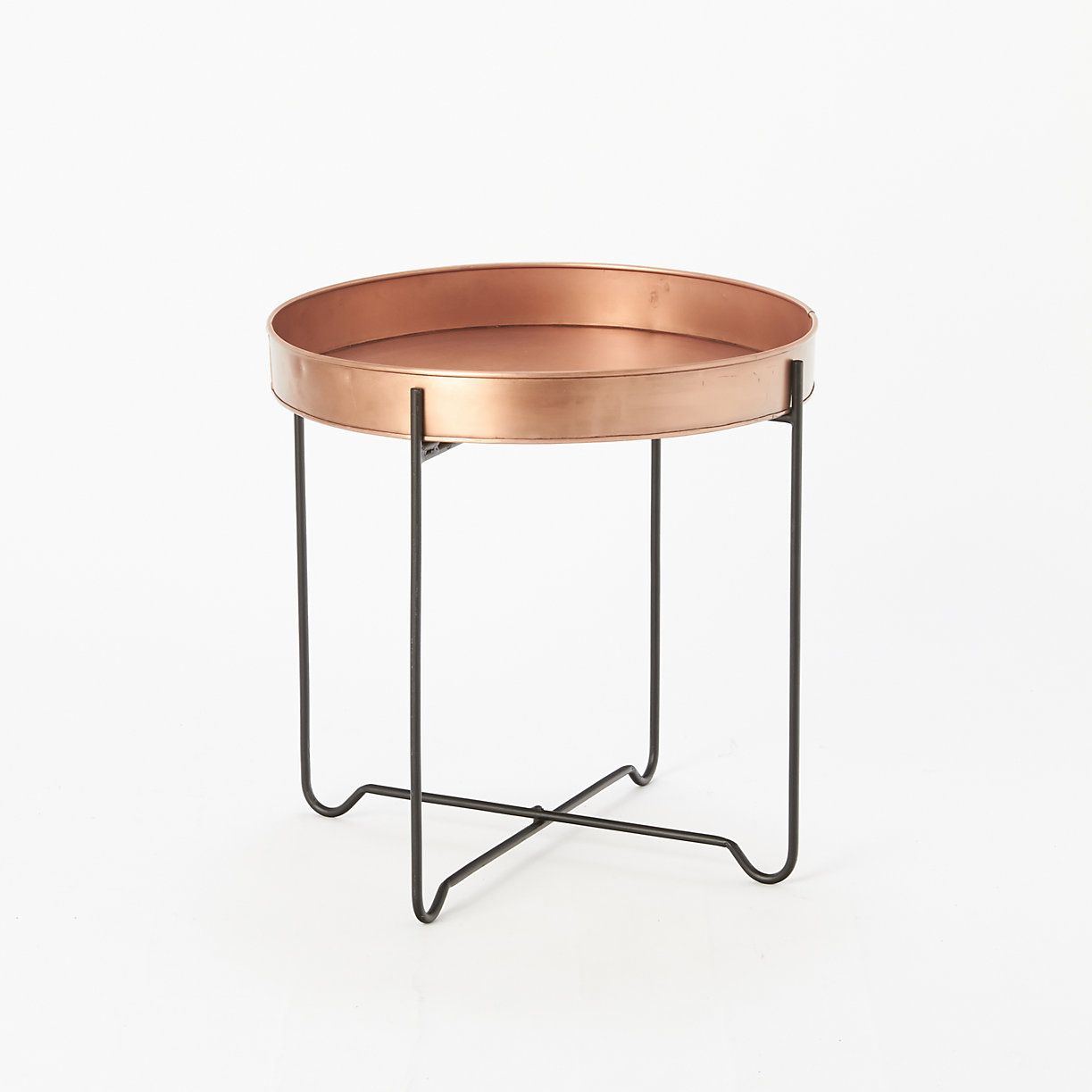 A Sleek, Iron Frame Pairs With Our Classic Copper Tray From Habit + Form To  Create This Practical Plant Stand Or End Table. Can Also Be Used With The  Dark ...