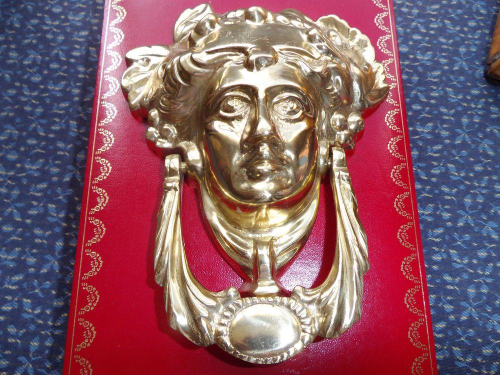 Traditional Antique Victorian Style Grecian Goddess Cast Brass Door Knocker