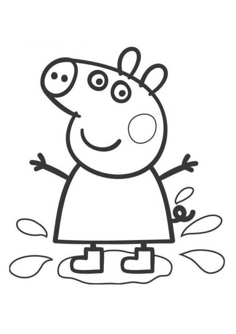 Peppa Gioca Con Le Pozzanghere Peppa Pig Disegni Da Colorare Disegni