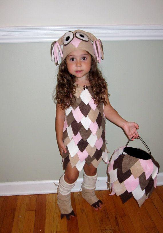Girls OWL Halloween costume Dress Wing capelet by LilKingdom - halloween costume girl ideas