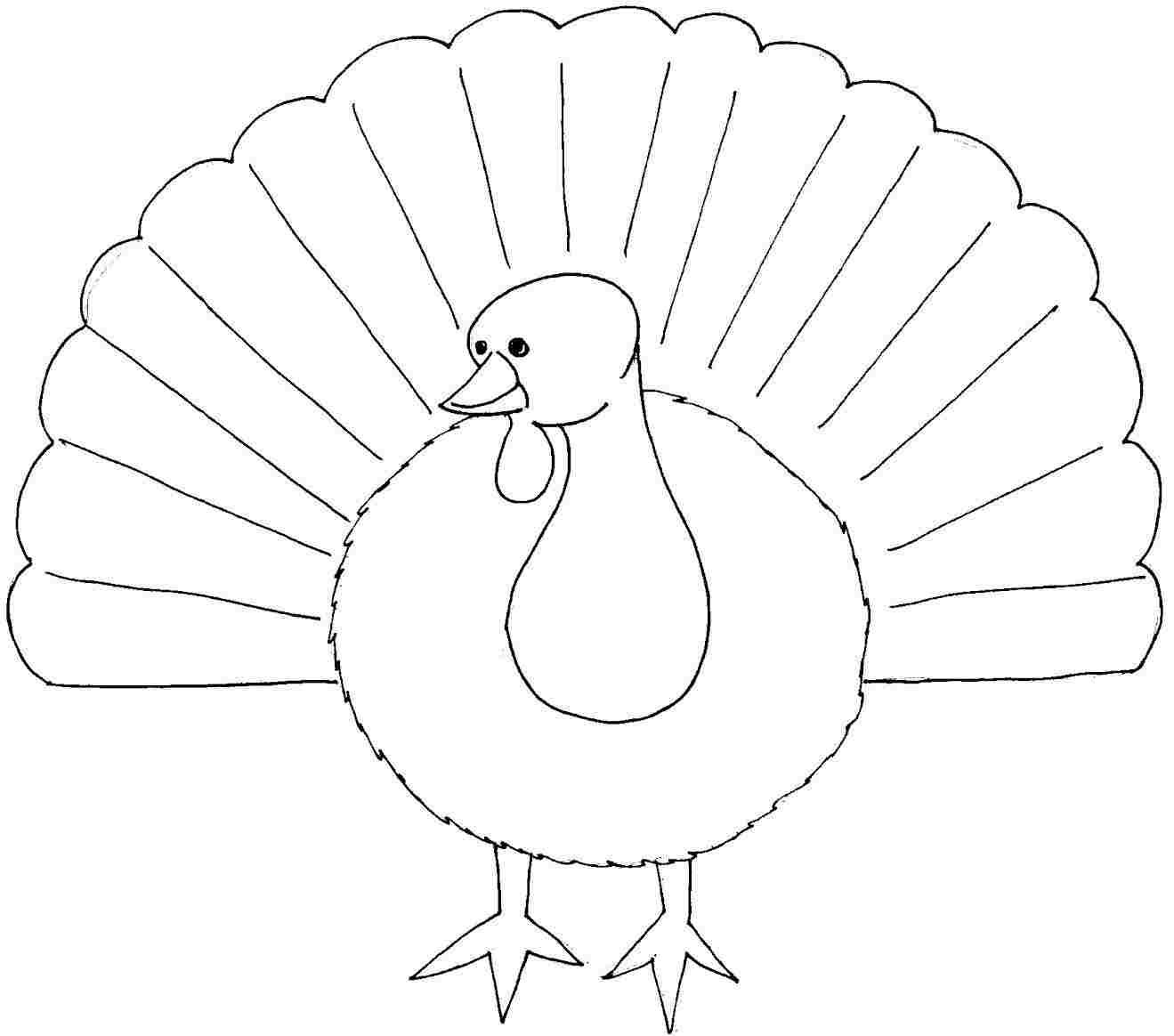 Printable Free Thanksgiving Turkey Colouring Pages For