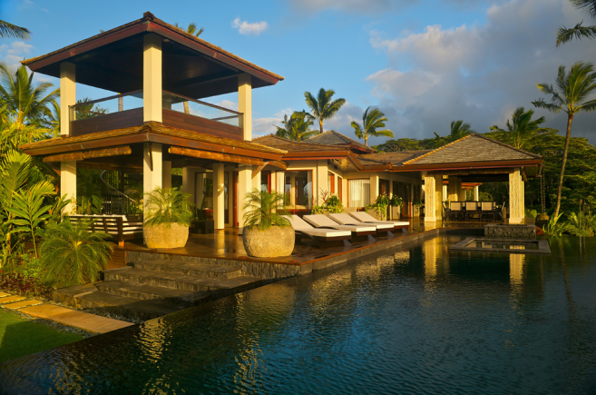 Exotic Tropical Home Design In Hawaii Tropical Modern