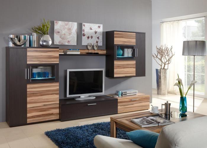 Wohnzimmerwand Braun ~ Oslo wohnwand braun nussbaum wohnzimmer flat