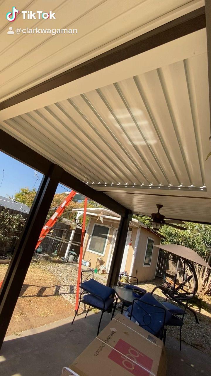 Aero-Louv adjustable roof