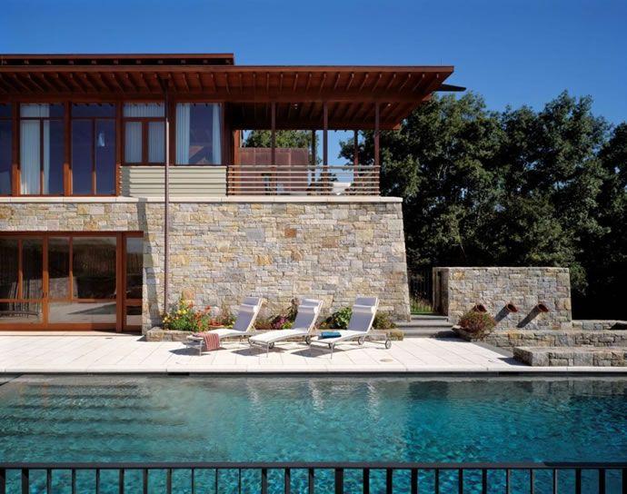 House Modern Wood And Stone