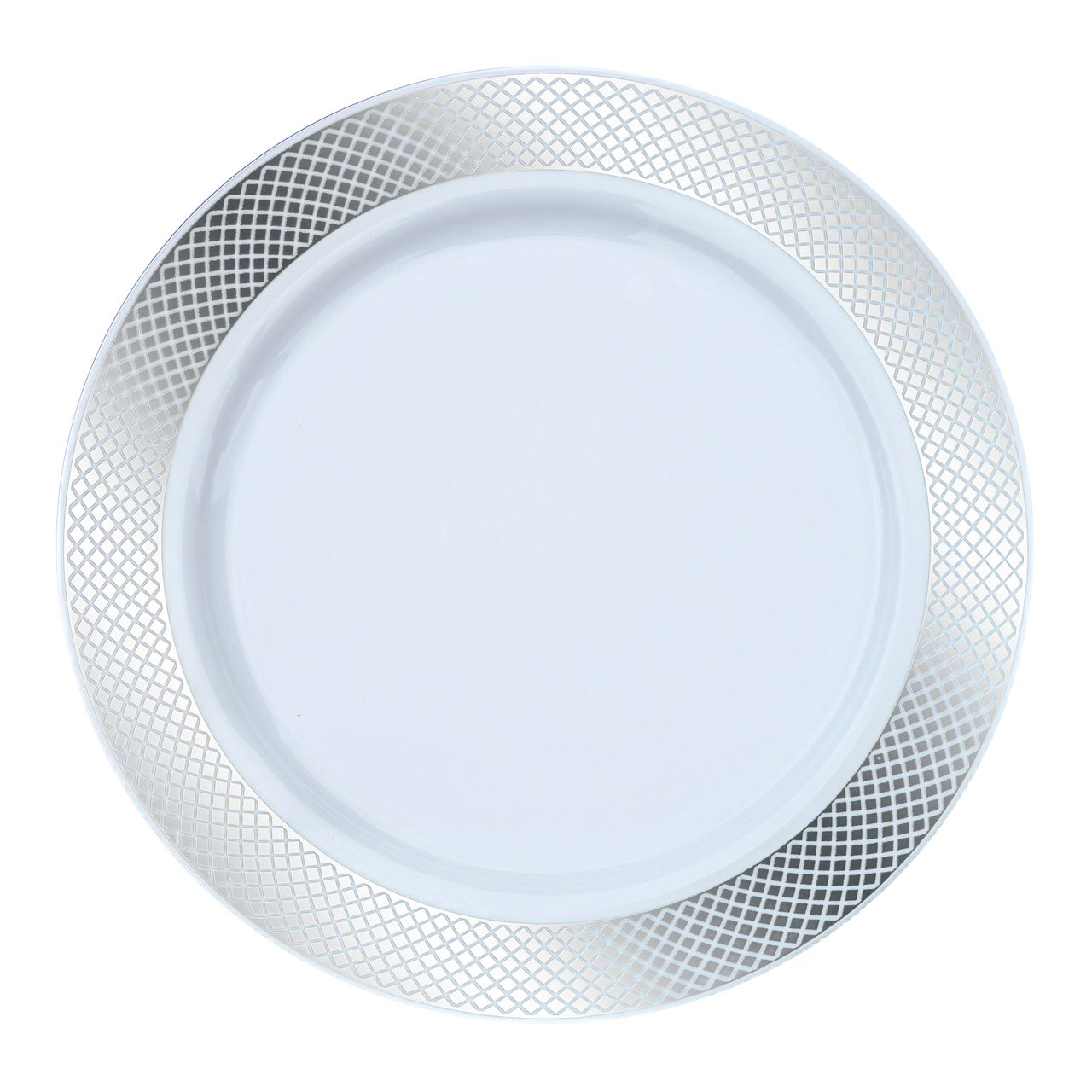 7\  White/Silver Crystal Plastic Dessert/Salad Plates  sc 1 st  Pinterest & 7\
