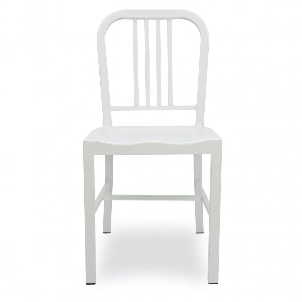 Weißes Metall Esszimmer Stuhl Überprüfen Sie mehr unter http ...