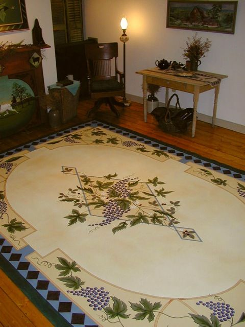 G And Vines Floorcloth By Artist