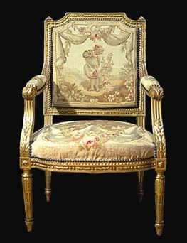Antique Hand Crafted Louis Xvi Chair