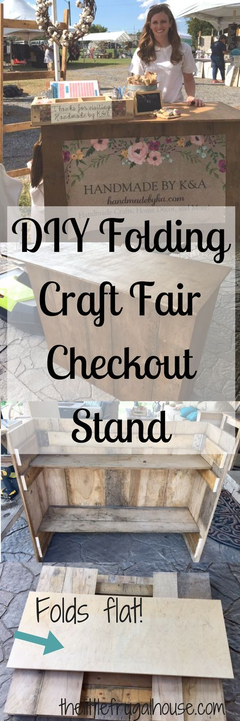 DIY Folding Craft Fair Checkout Stand | Pinterest
