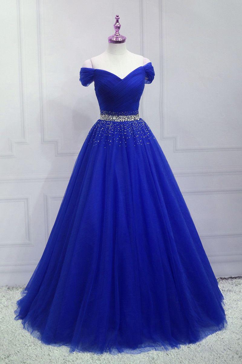 Royal Blue Beaded Long Sweetheart Party Dress Blue Junior Prom Dress Dresses Junior Prom Dresses Party Dress Long [ 1200 x 800 Pixel ]