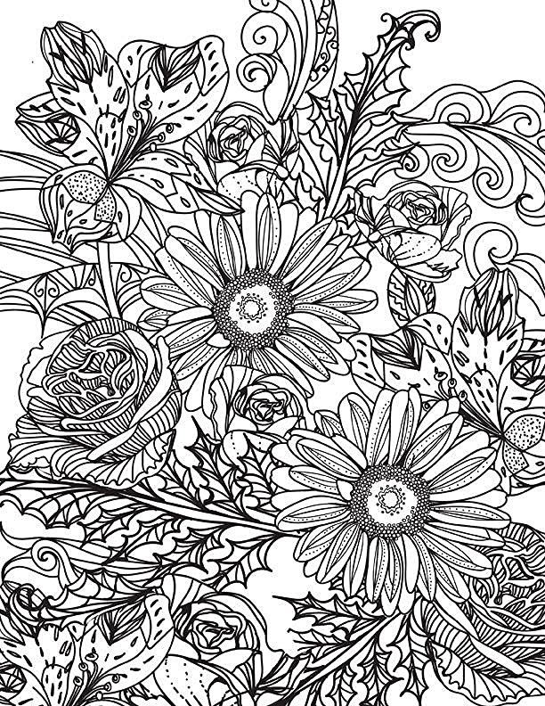 Enchanted Flower Garden Colouring Book Flowers Adult Using The Secret Beauty Of