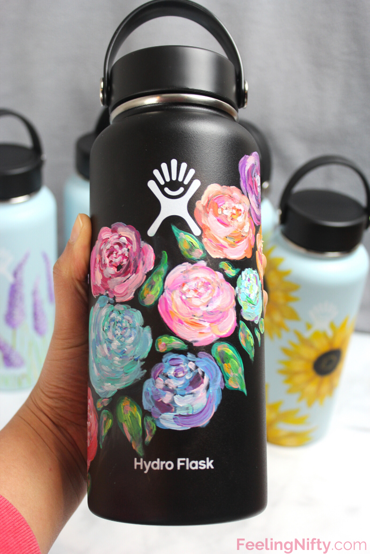 Ultimate Guide How To Paint Your Hydro Flask With 5 Easy Diy Ideas Water Bottle Art Flask Art Hydroflask