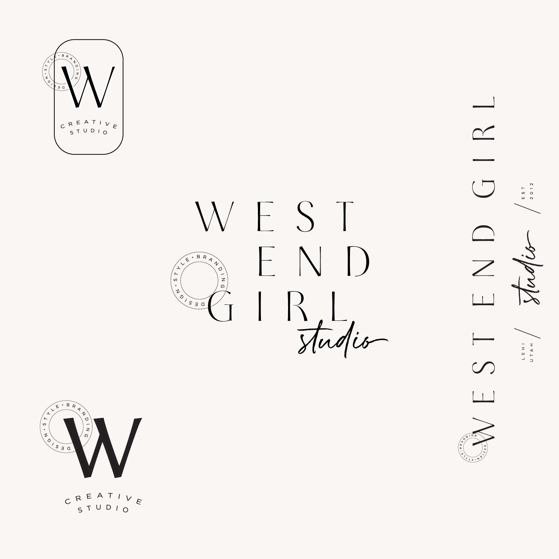 West End Girl Logo Branding Design Modern Branding Vintage Logo Design Logo Simple Logo Modern Design Vintage Logo Design Minimal Logo Design Logo Design
