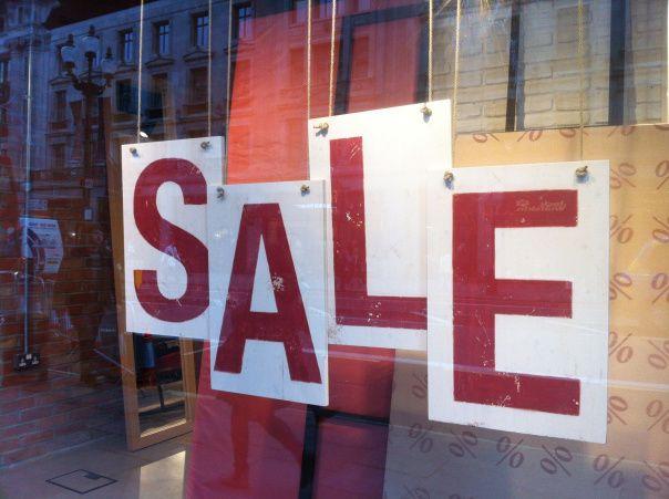 Hanging Sale Sign